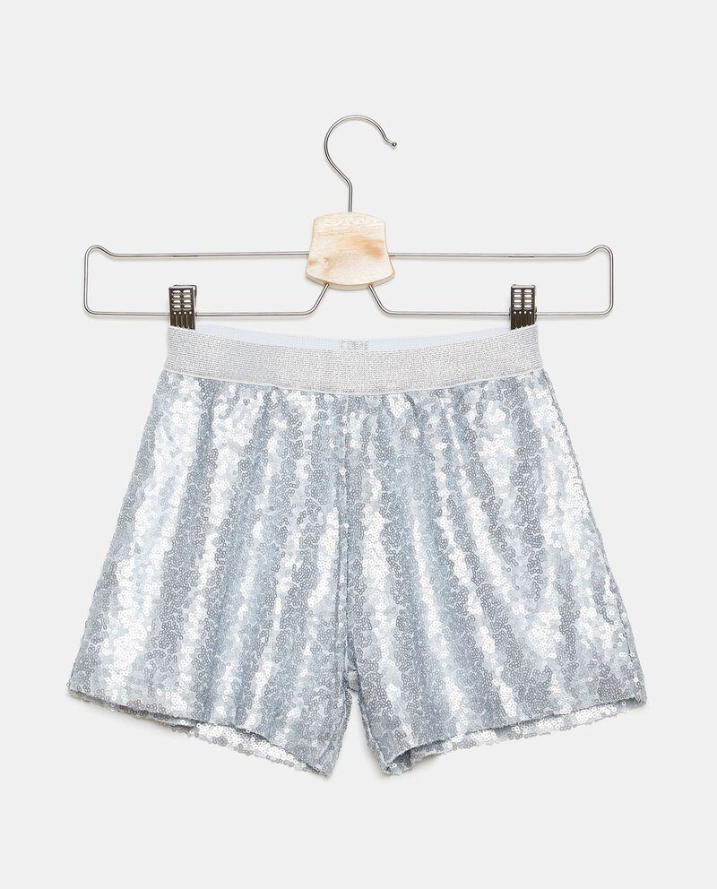 Shorts in tessuto di paillettes bambina cover