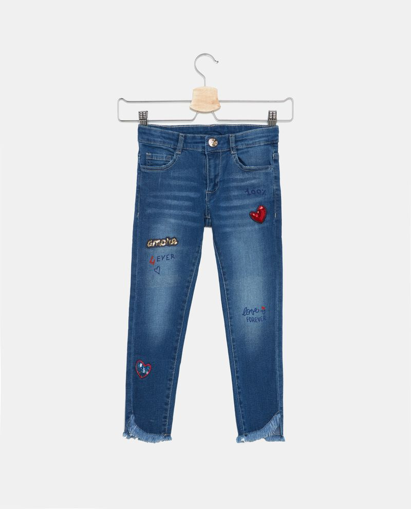 Jeans con patch bambina