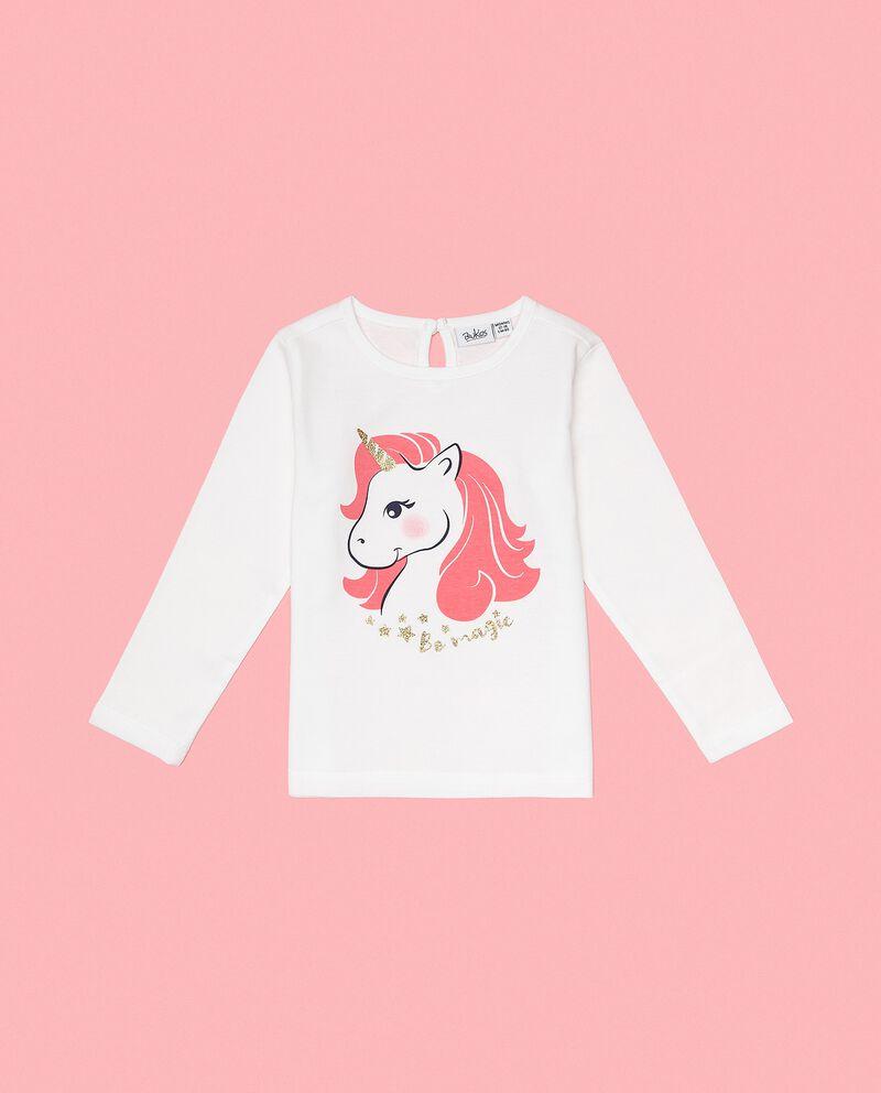Maglia in puro cotone con stampa unicorno neonata