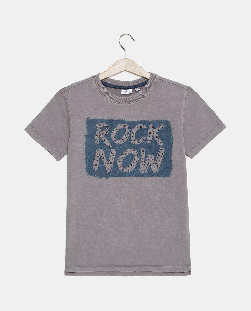 T-shirt in jersey cotone organico stampata ragazzo