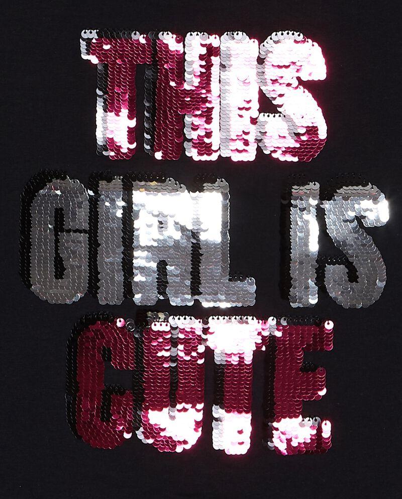 T-shirt con motivo a righe e paillettes ragazza