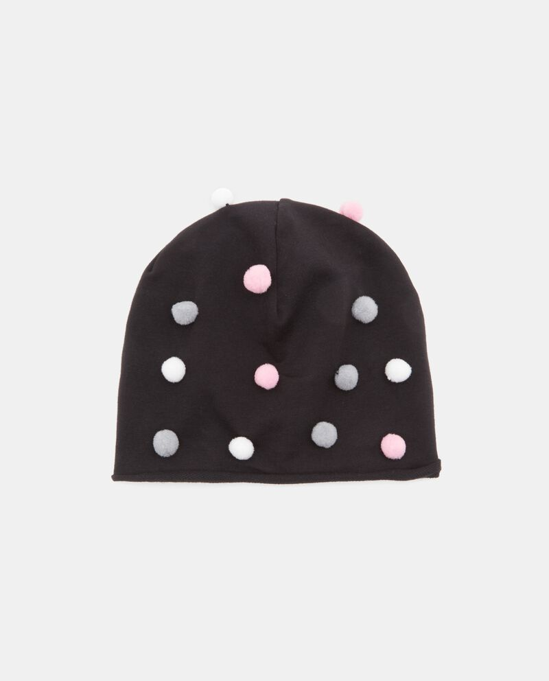 Cappellino con pon pon