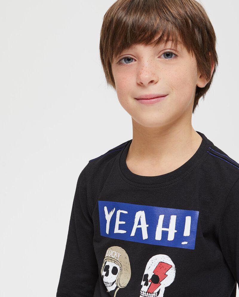 T-shirt puro cotone stampa teschi