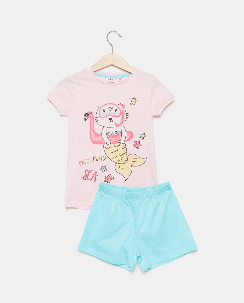 Set pigiama in puro cotone stampato bambina