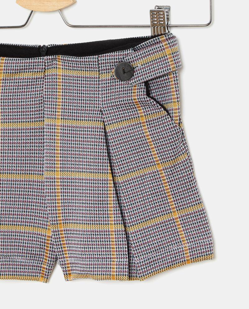 Shorts a quadri bambina