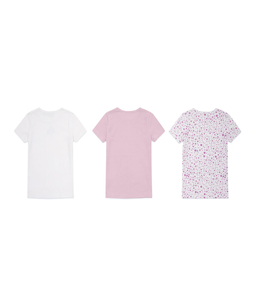 Set tre t-shirt intime con fiocchetto