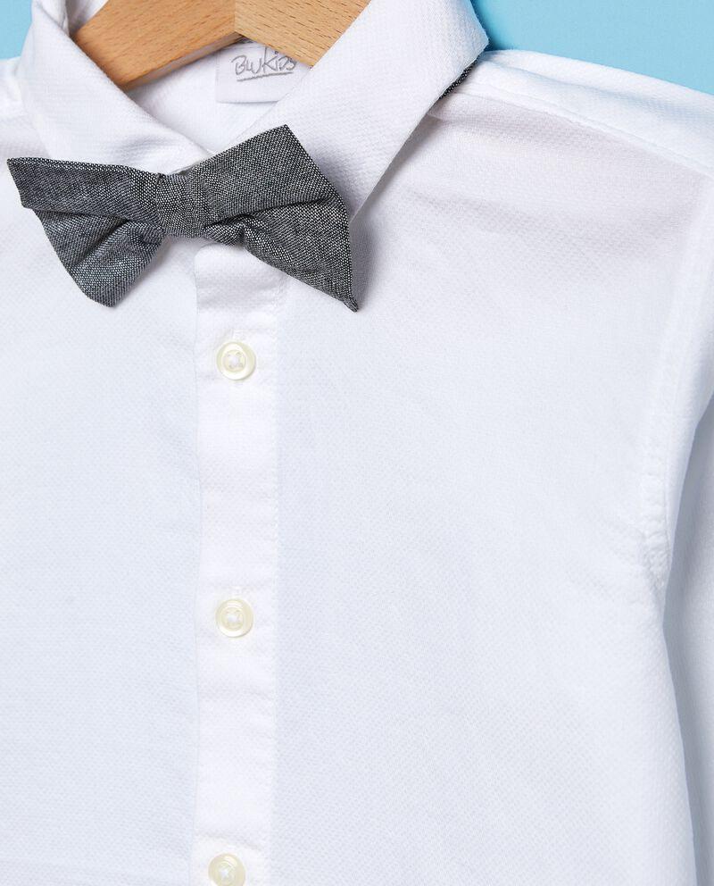 Camicia in puro cotone con papillon bambino single tile 1