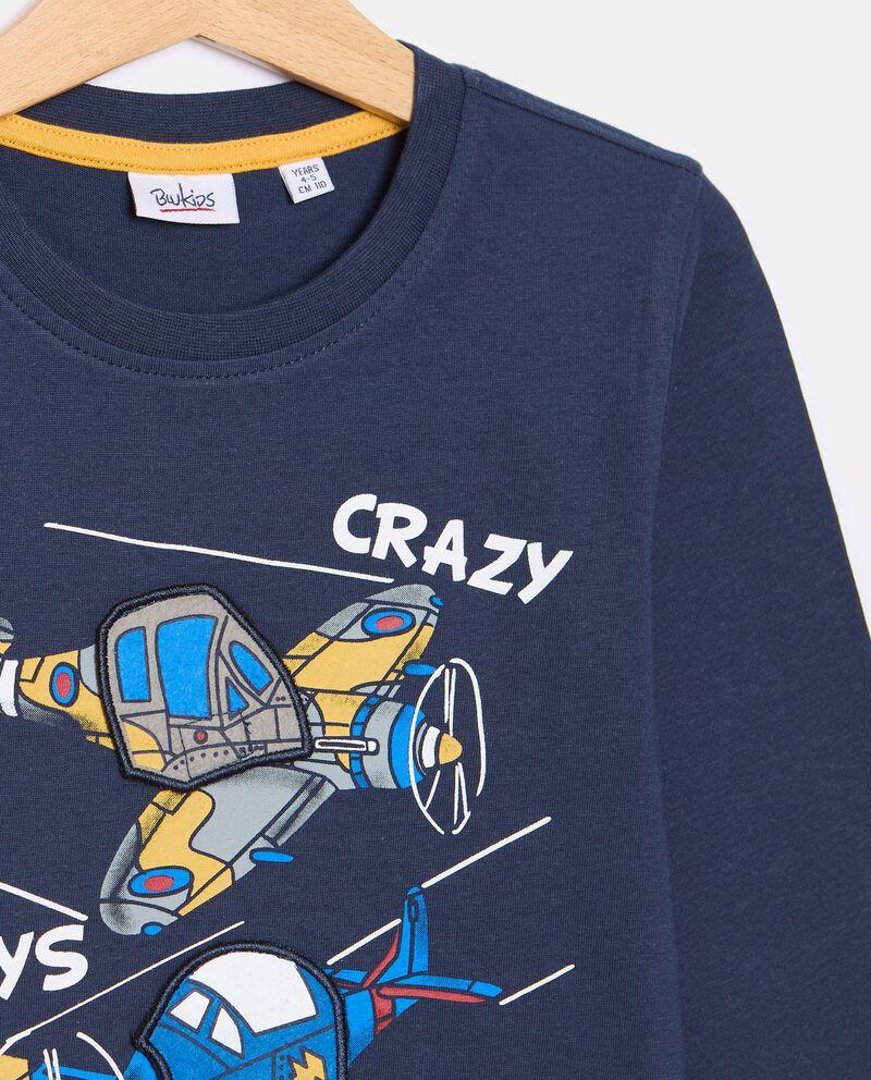 T-shirt di cotone organico con stampa bambino single tile 1