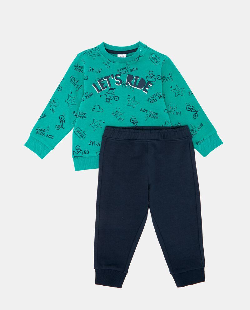 Set felpa lettering e pantaloni neonato