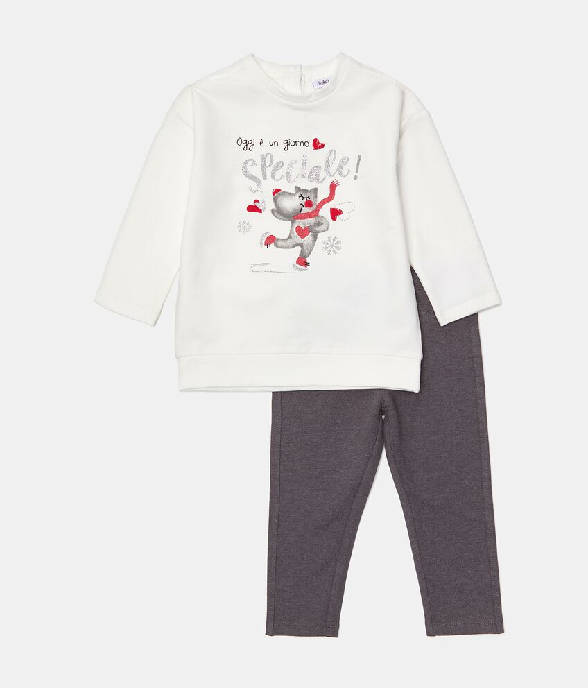 Set jogging maglia e pantaloni neonata