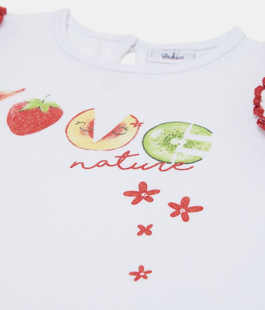 Tank top con stampa glitterata frutti