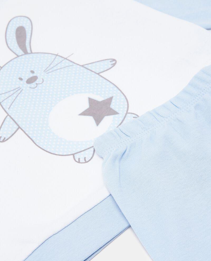 Set pigiama di puro cotone biologico con maglia e pantaloni neonato