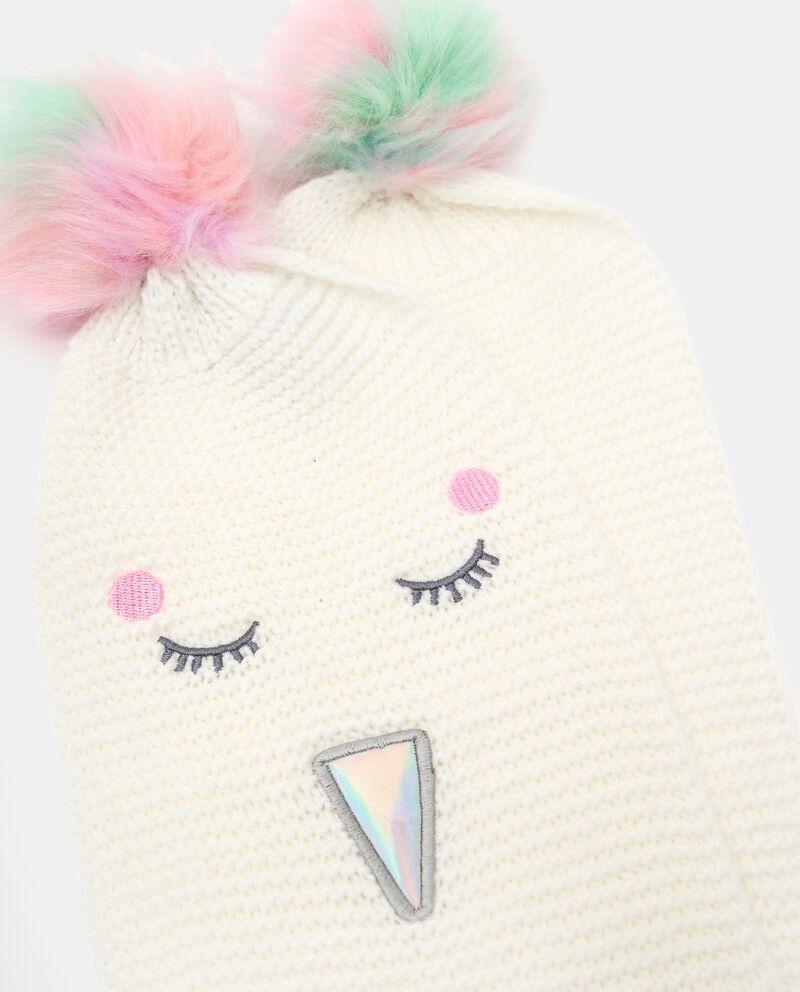 Sciarpa tricot con ricami single tile 1