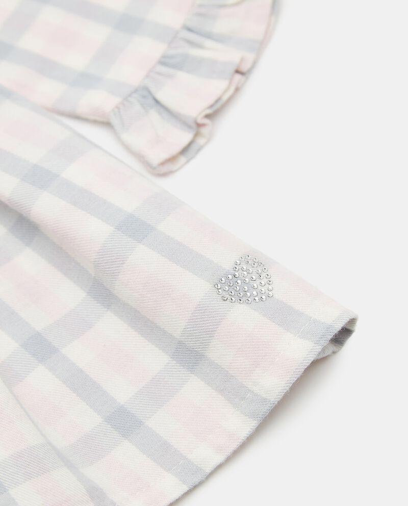 Vestito in flanella check neonata single tile 1