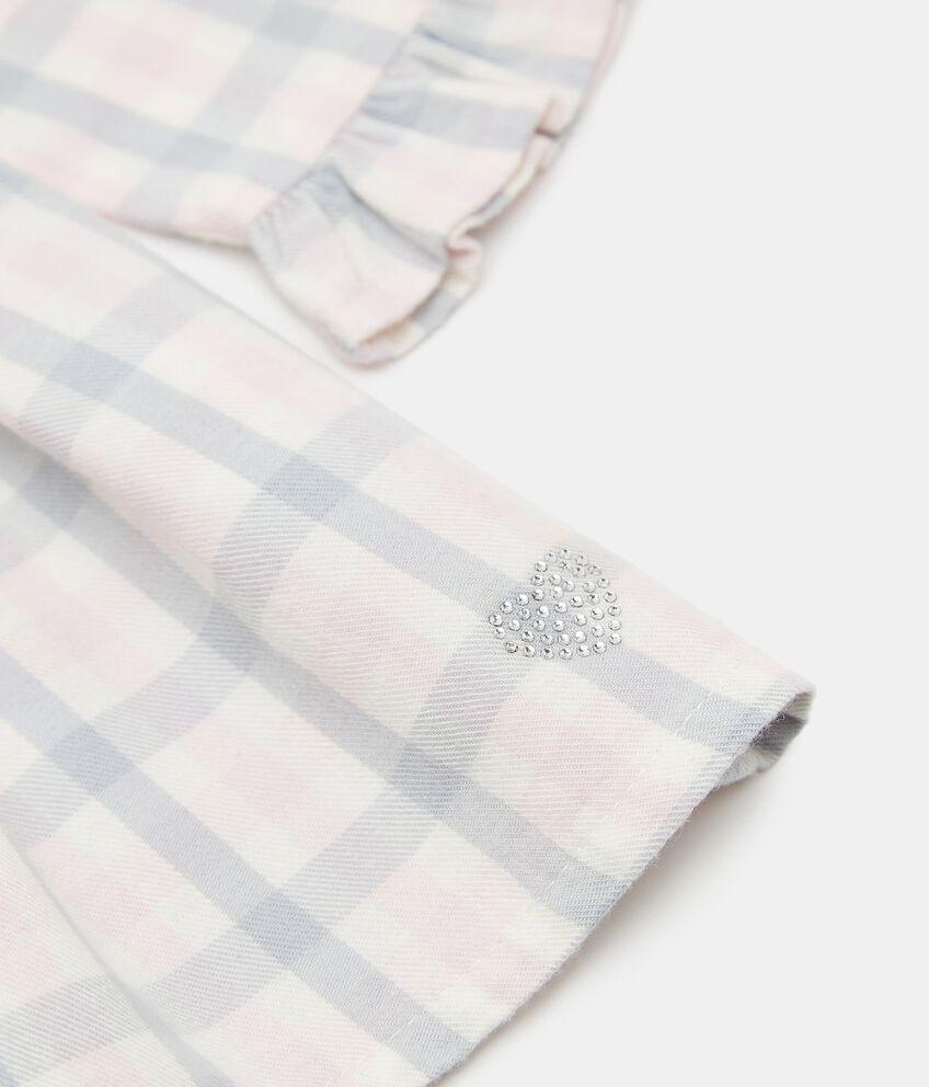Vestito in flanella check neonata double 2