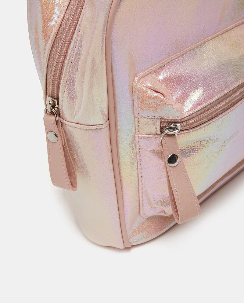 Zaino metallizzato con tasca bambina