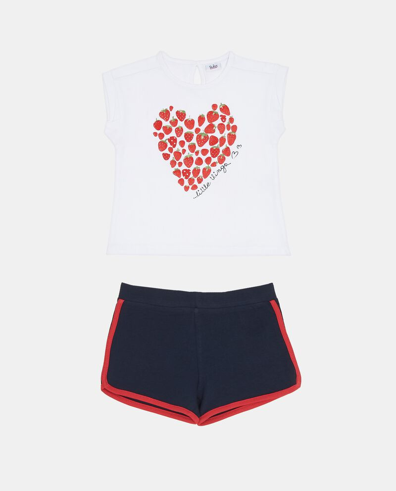 Jogging set t-shirt fragole e shorts