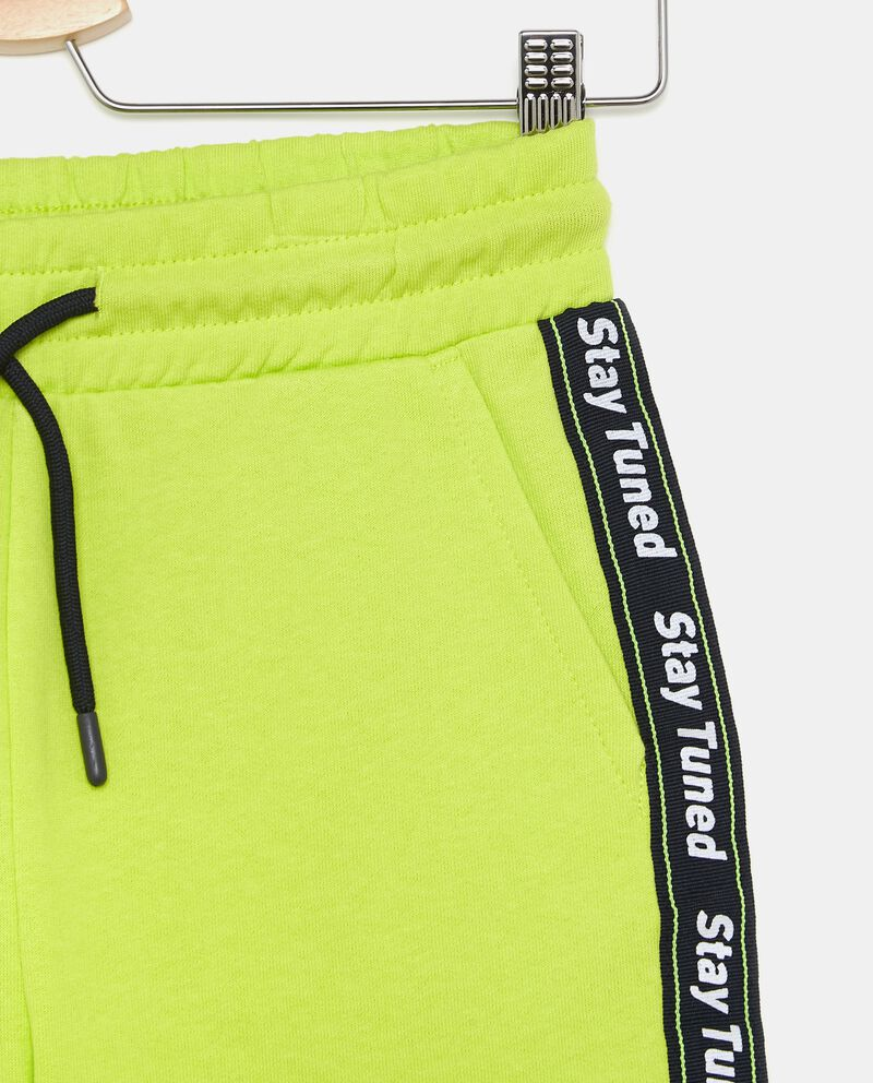 Shorts bande laterali con lettering