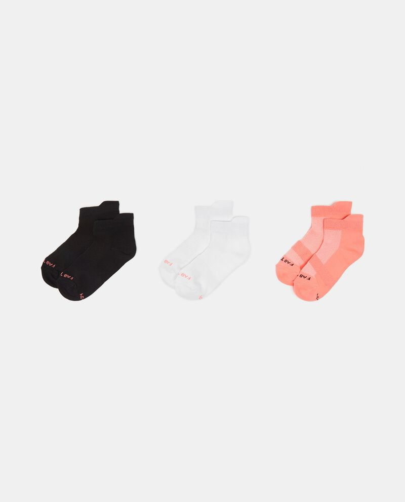 Set 3 paia calze corte assortite