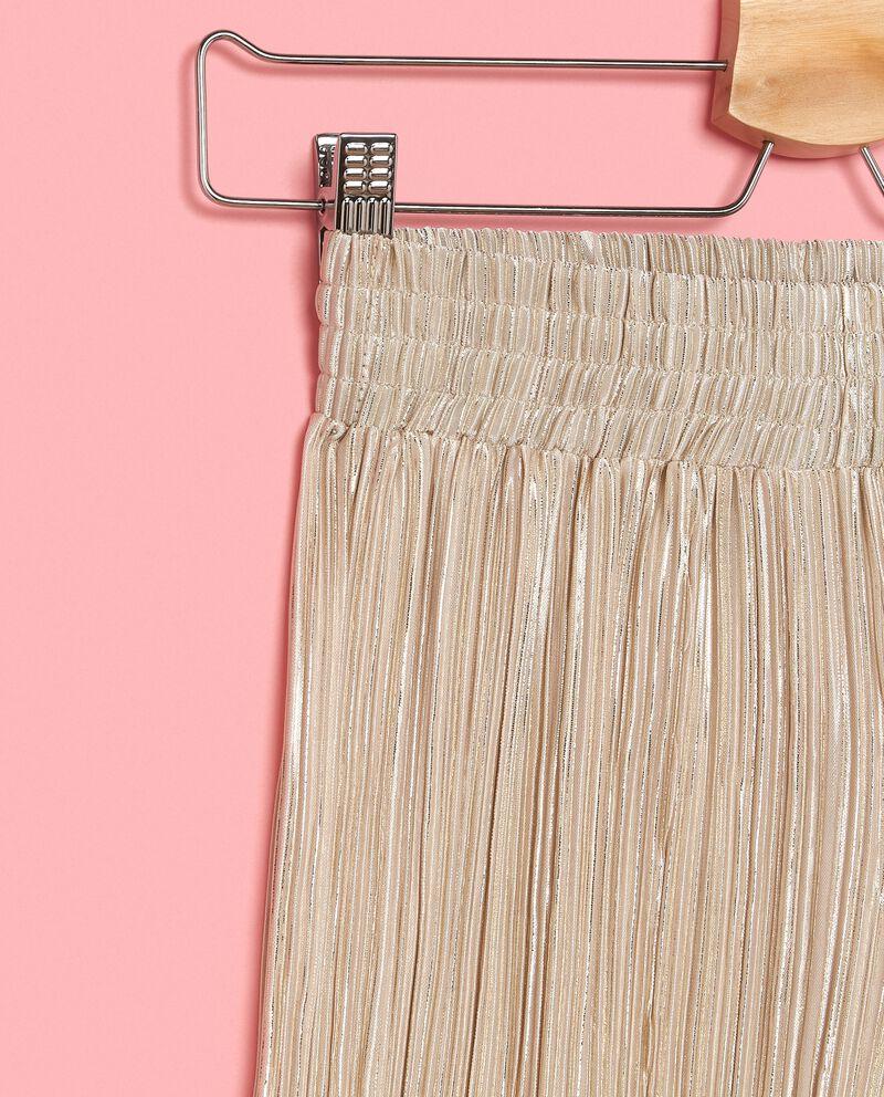 Pantaloni metallizzati con effetto plissé ragazza