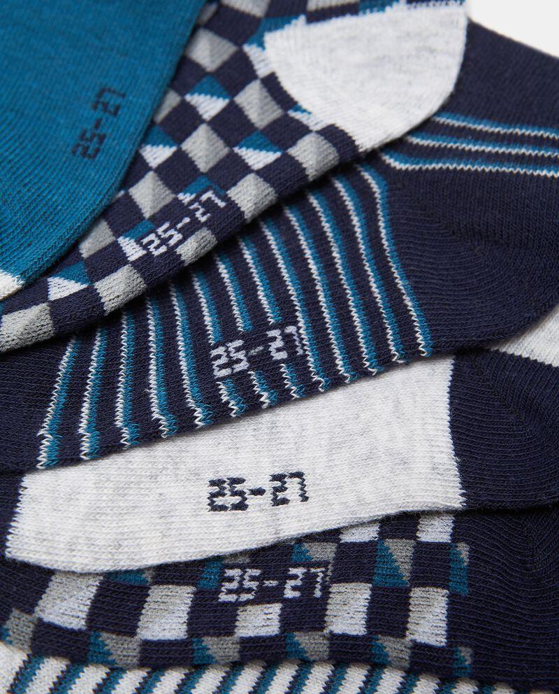Set con 7 paia di calzini cotone organico bambino single tile 1