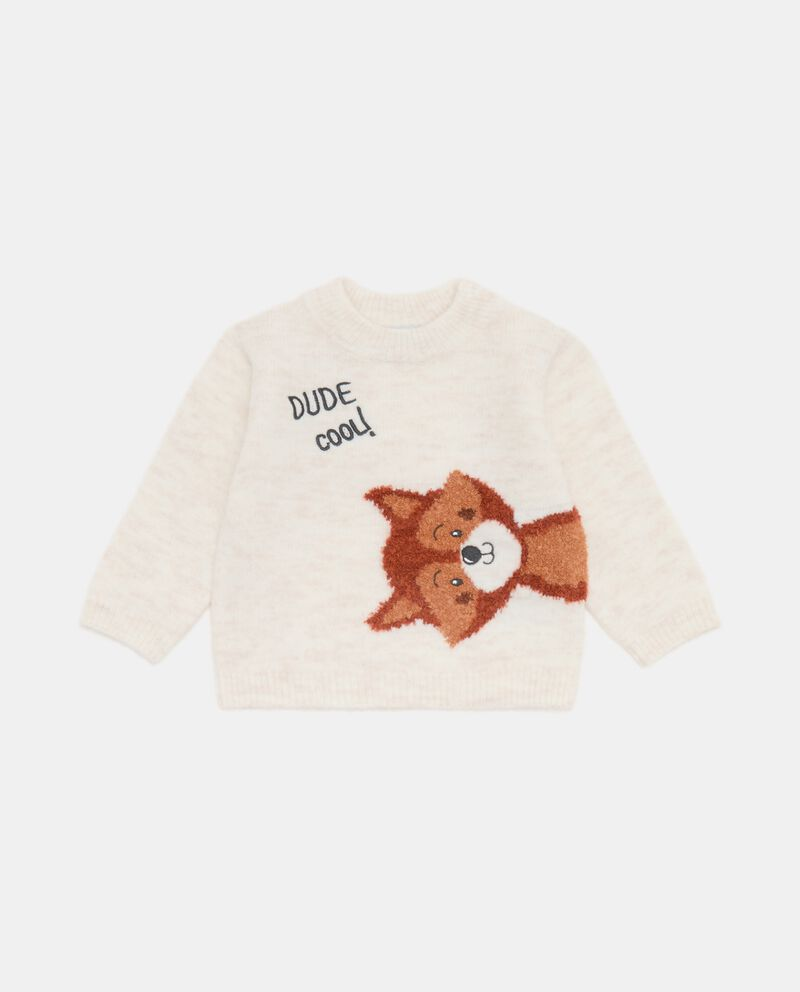 Girocollo tricot con ricamo neonatodouble bordered 0