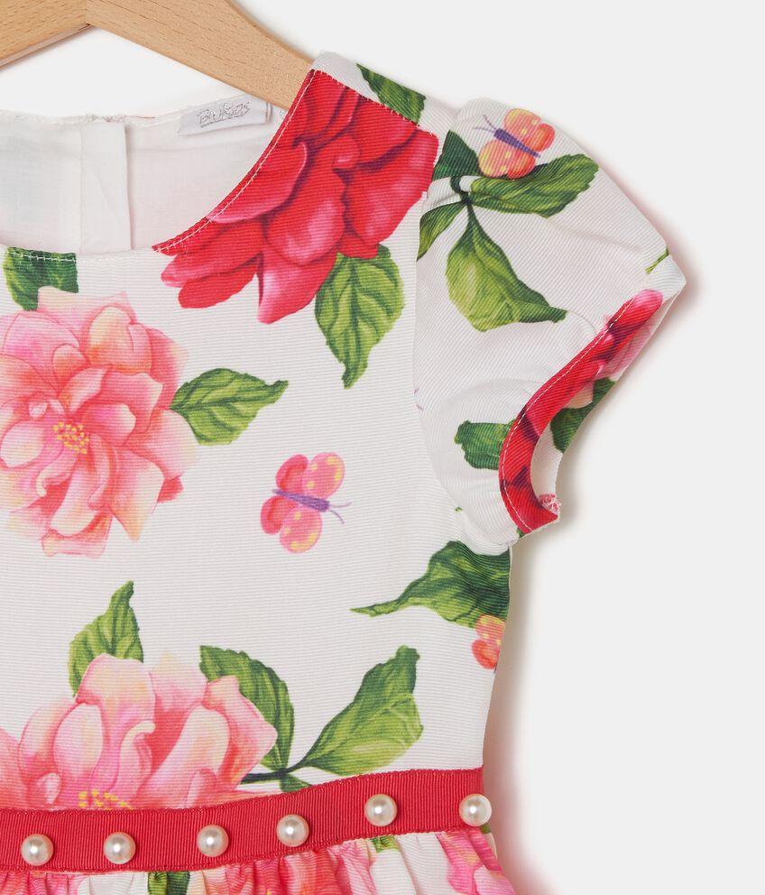 Vestito in fantasia floreale bambina