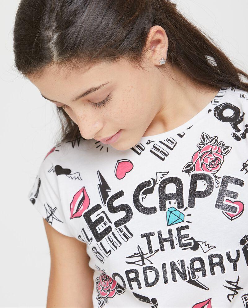 T-shirt a maniche corte e laccio sul fondo