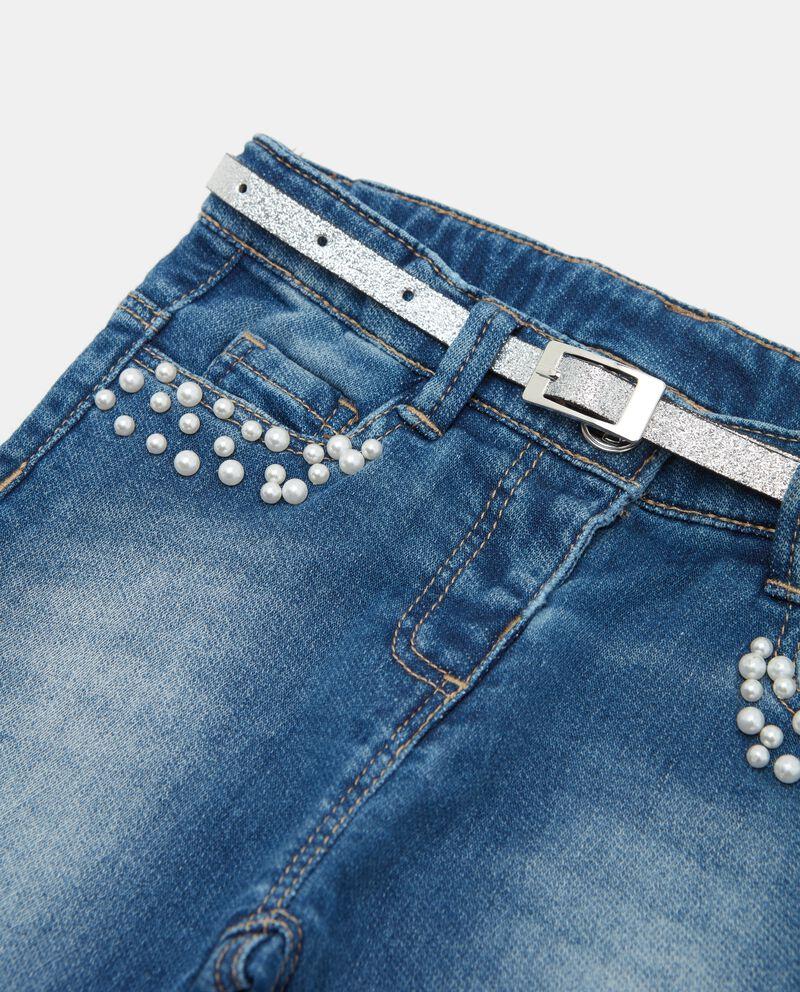 Jeans con perle neonata