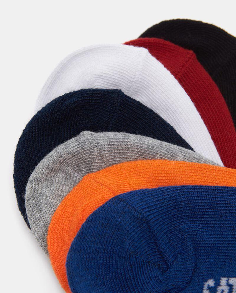 Set con 7 paia di calzini corti in cotone elasticizzato
