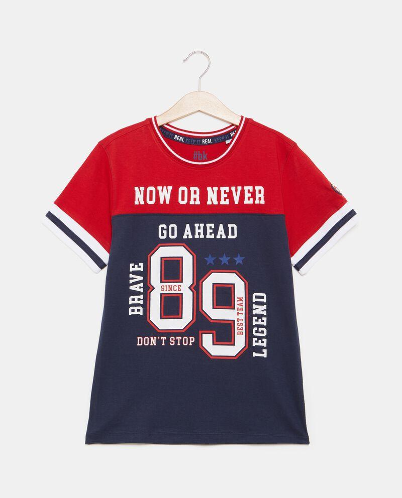 T-shirt in puro cotone con numero ragazzo