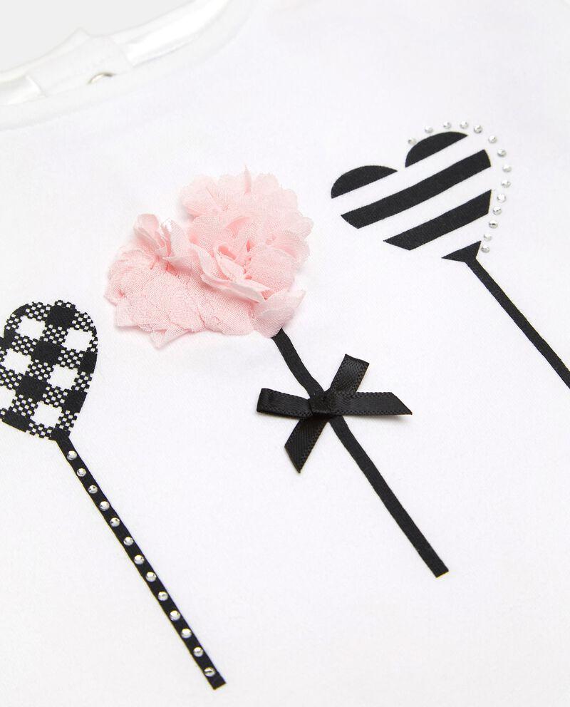 T-shirt di cotone organico stretch neonata single tile 1