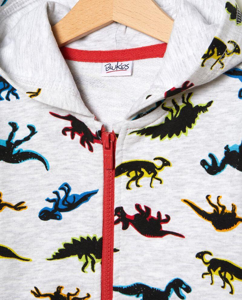 Felpa con fantasia dinosauri bambino