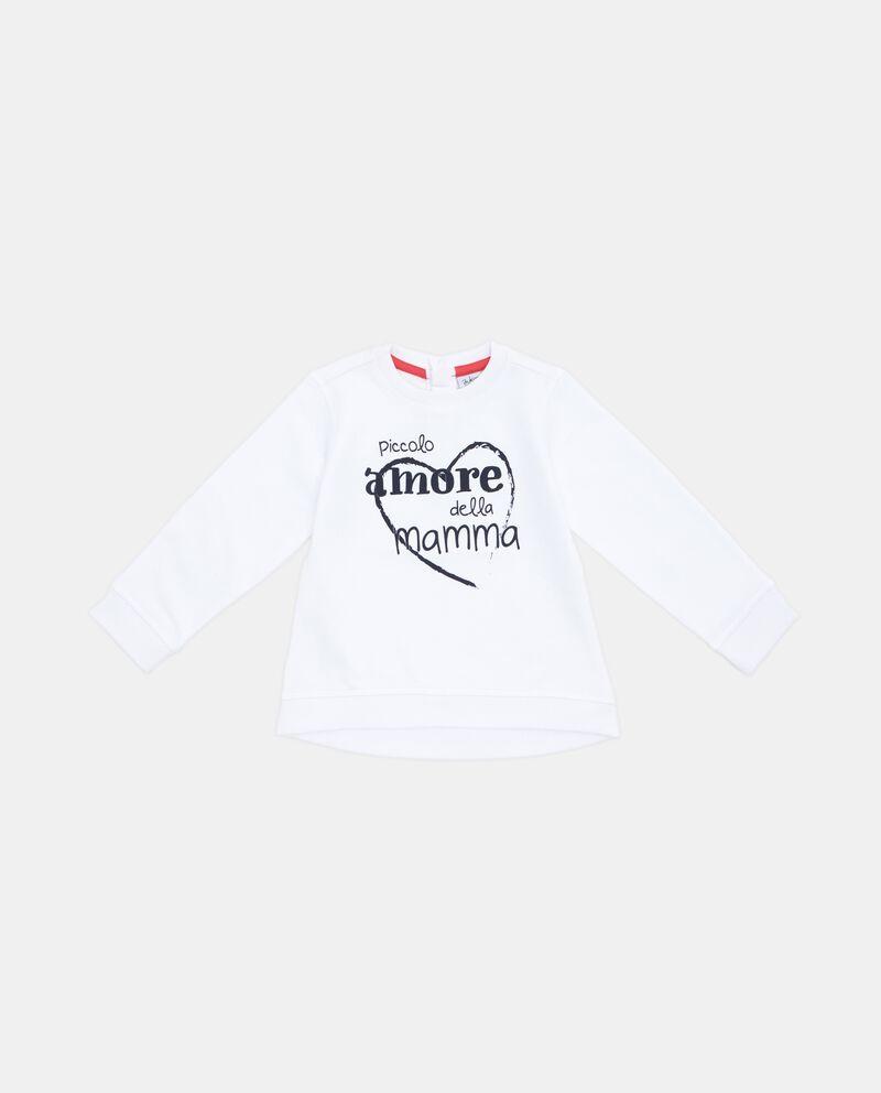 Felpa puro cotone con lettering neonata