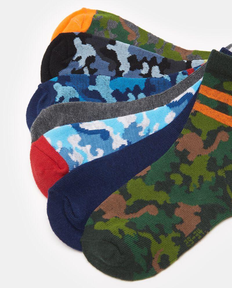 Set sette calze corte camouflage