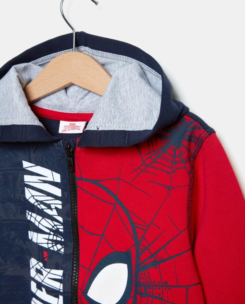 Felpa doppio colore Spiderman bambino