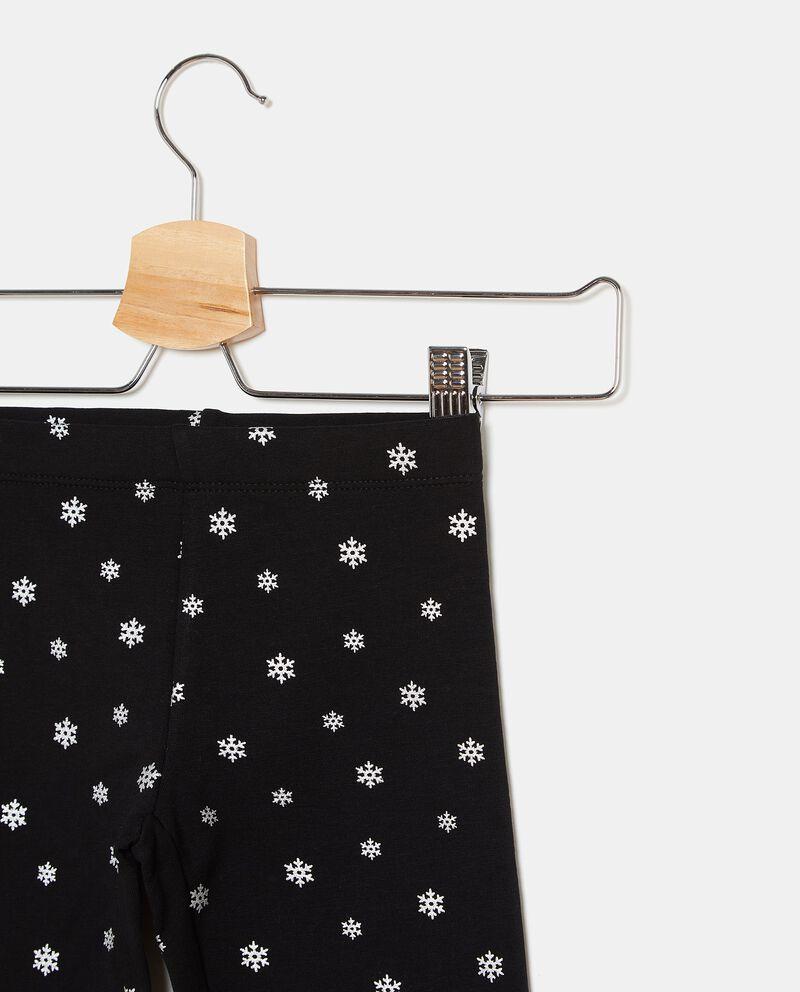 Leggings con fantasia fiocchi di neve bambina