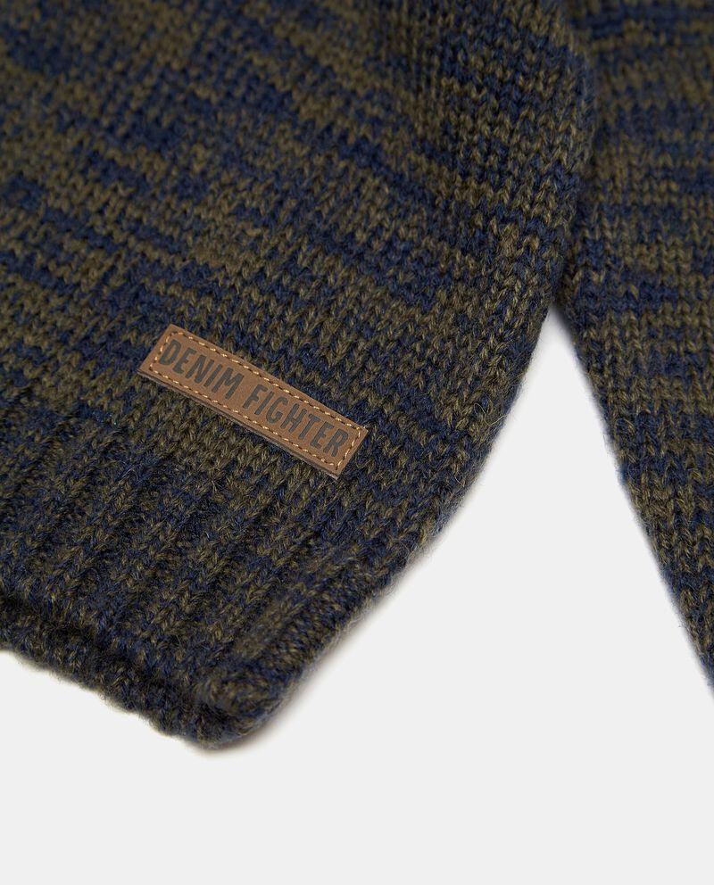 Maglioncino con zip e cappuccio neonato single tile 1