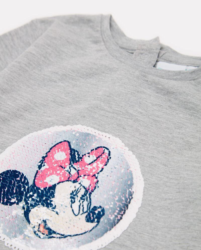 T-shirt con paillettes effetto mélange neonata