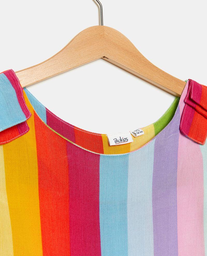 Vestito con motivo a righe colorate ragazza