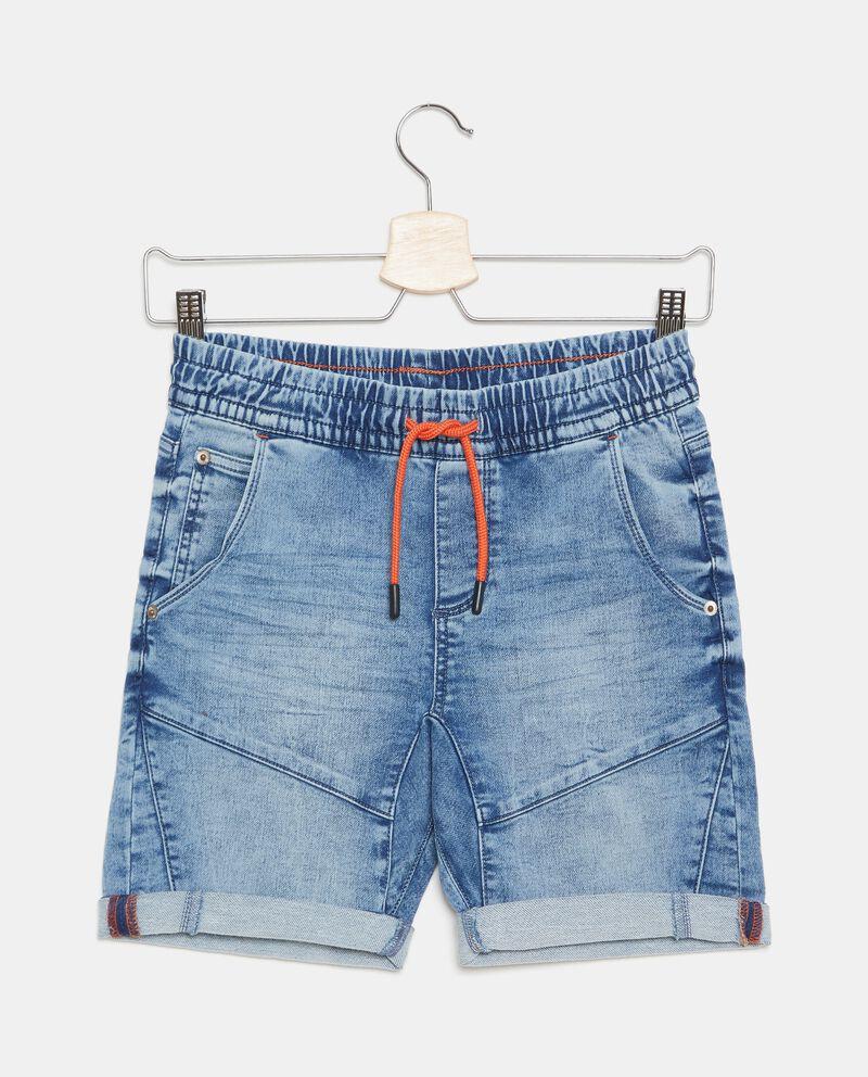 Shorts in denim in cotone stretch ragazzo