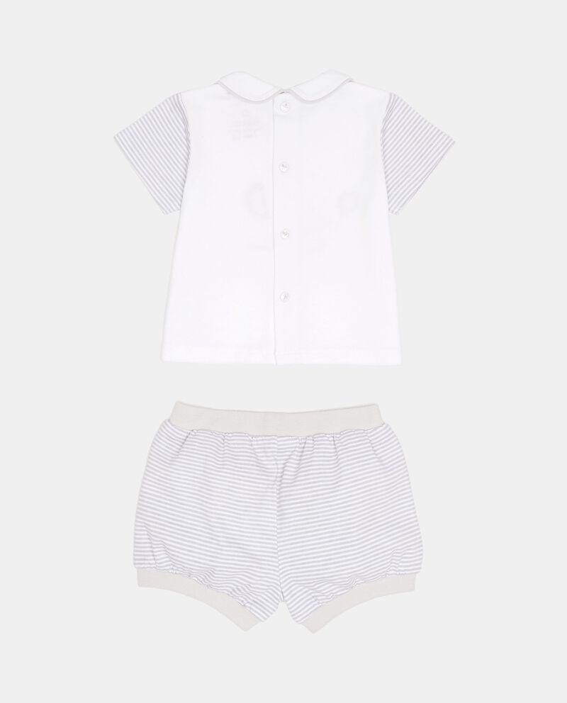 Completino t-shirt con colletto shorts