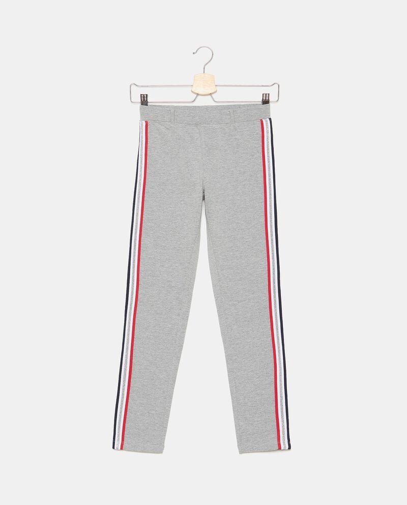 Pantaloni di cotone elasticizzato con bande ragazza cover