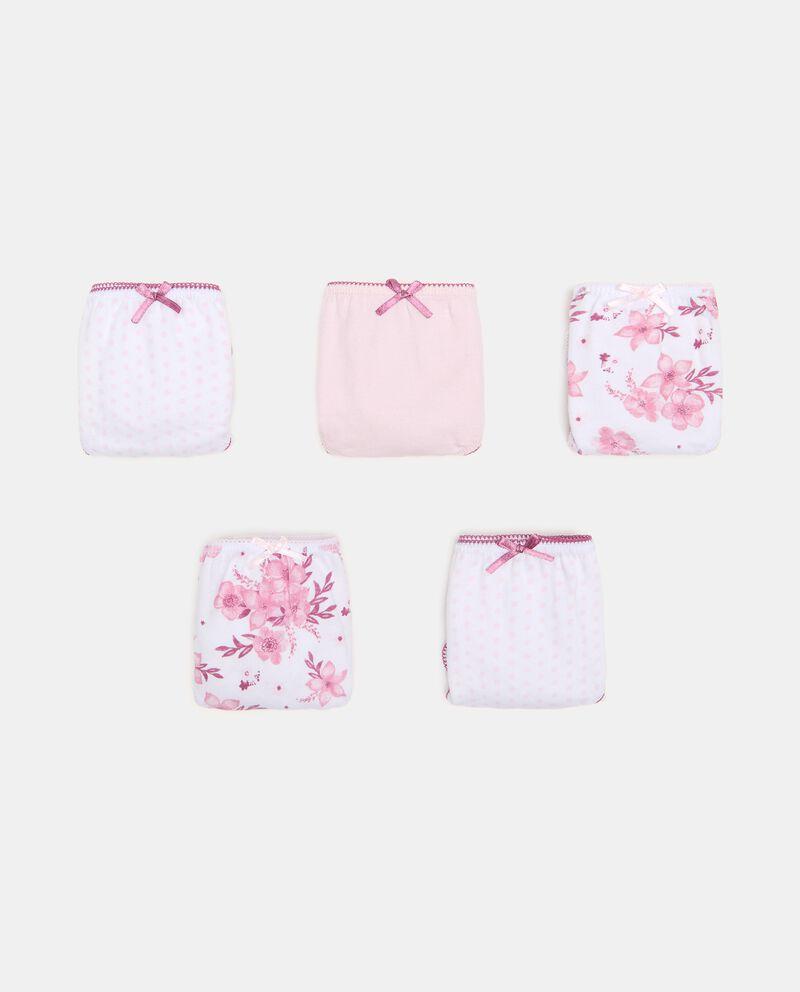 Pack con 5 slip in cotone organico bambina cover