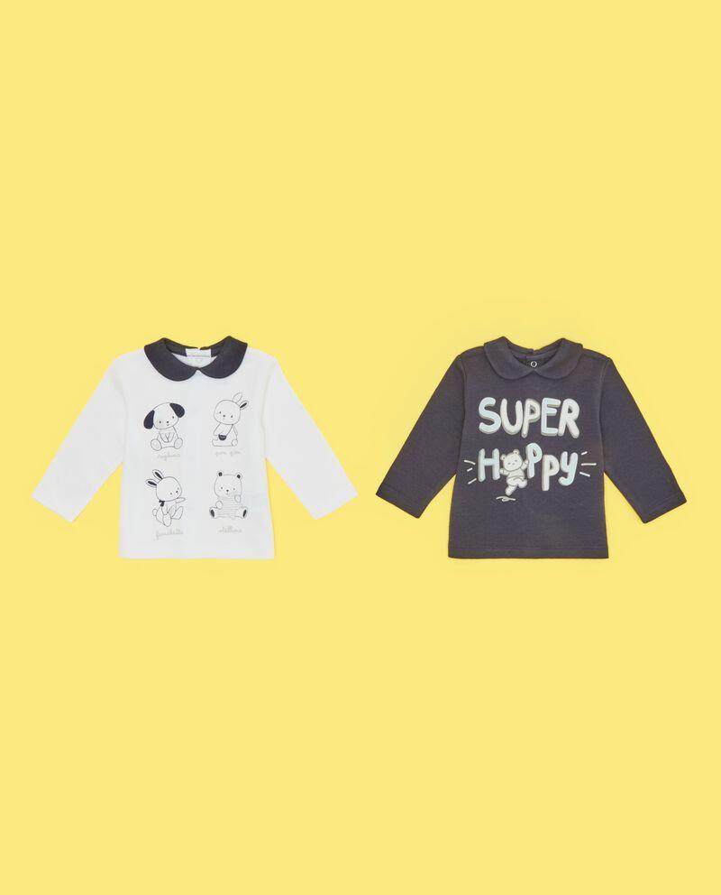 Bipack magliette in puro cotone neonato