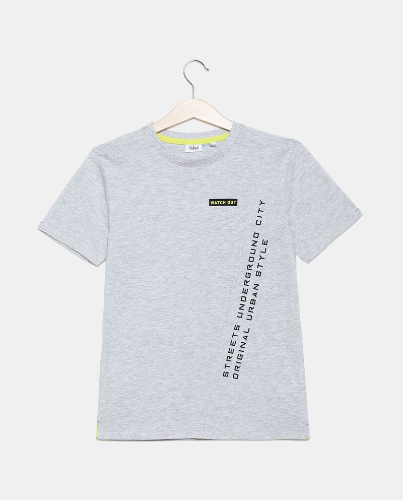 T-shirt cotone organico jersey con taglio ragazzo