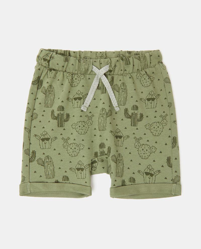 Shorts in puro cotone fantasia neonato