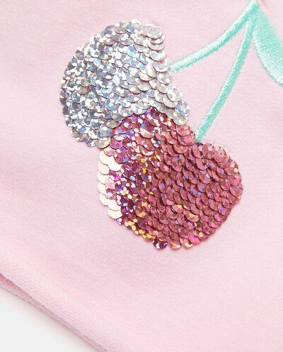 Berrettino con paillettes in cotone elasticato neonata