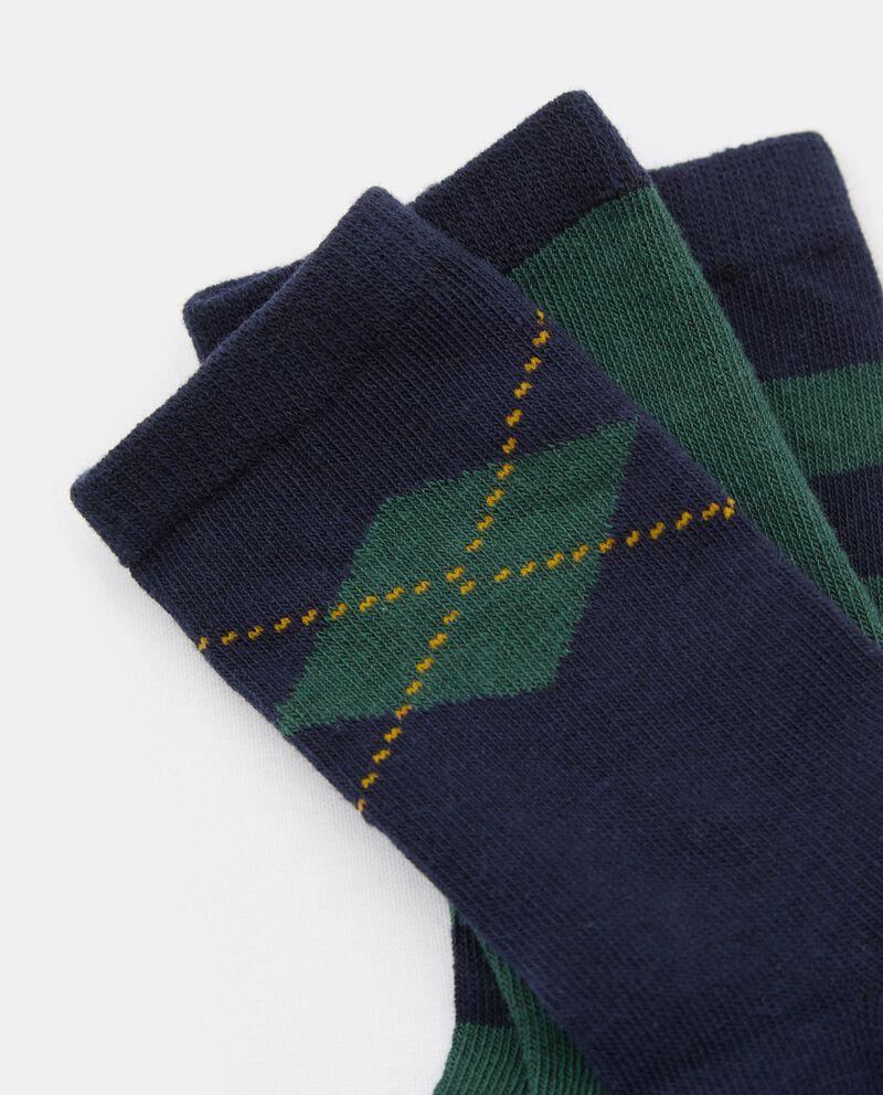 Pack con tre paia di calzini in cotone organico neonato single tile 1