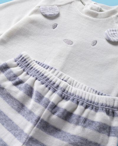 Completino con maglia e pantaloni a righe